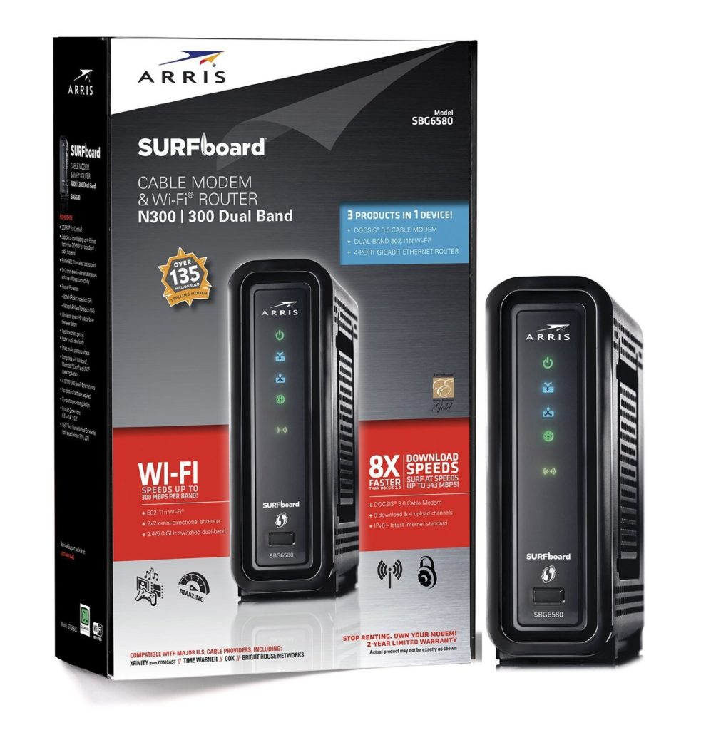 ARRIS SurfBoard SBG6580 DOCSIS 3.0 Cable Modem And Router